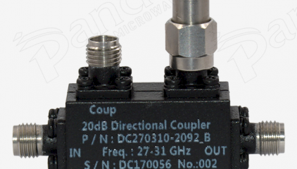 27 to 31 GHz 20dB Directional Coupler Test Curve