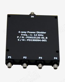 1 to 12GHz 4-way Power Divider