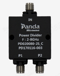 2 to 8GHz 2-way Power Divider