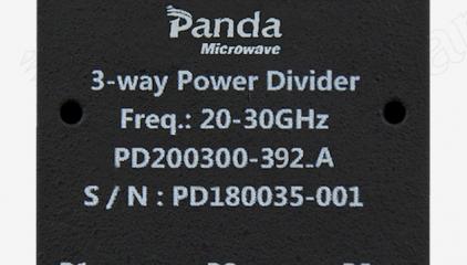 20-30GHz 3-way Power Divider Test Curve