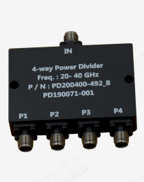 20 to 40GHz 4-way Power Divider