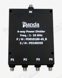 1 to 18GHz 4-way Power Divider