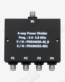 3.4 to 3.8GHz 4-way Power Divider